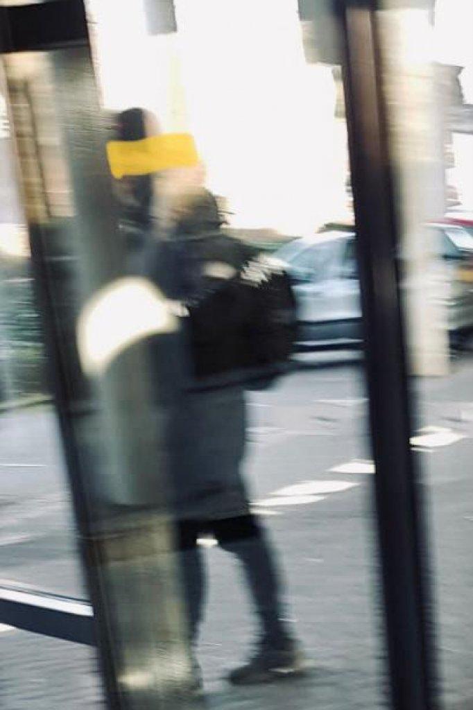 De mogelijke aanslagpleger, waarvan Astrid een foto maakte.