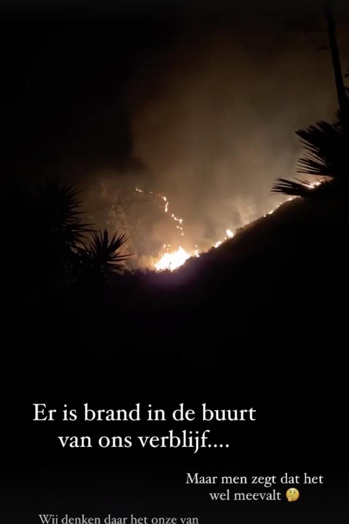Brand bij Marieke Elsinga op vakantie